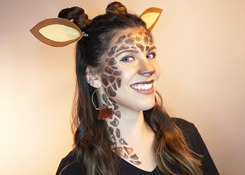 Giraffe Makeup Look